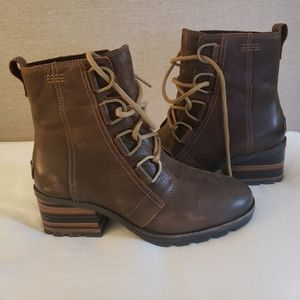 Sorel Cate Lace Waterproof Leather Booties